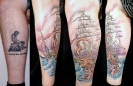 cover up tattoos_kraken ship coverup