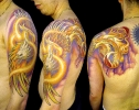custom tattoos_Neo Traditional Phoenix