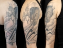 custom tattoos_Sydney Opera House NYC Libery Tower Brooklyn Bridge